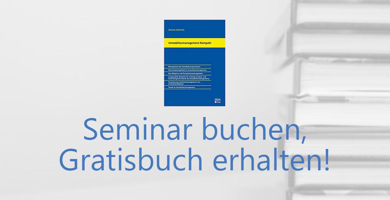 Seminar buchen, Gratisbuch erhalten
